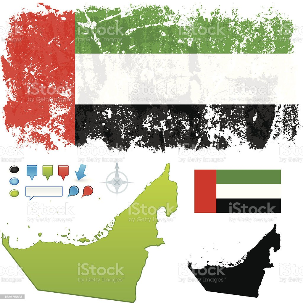 United Arab Emirates royalty-free stock vector art