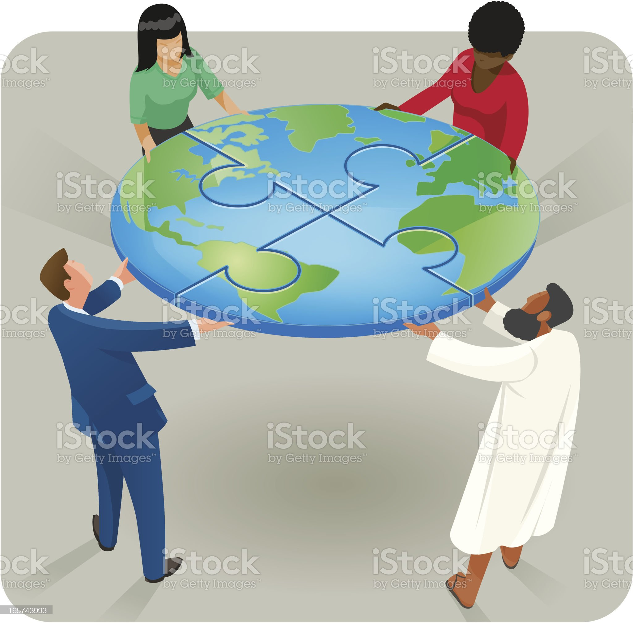 United Earth royalty-free stock vector art