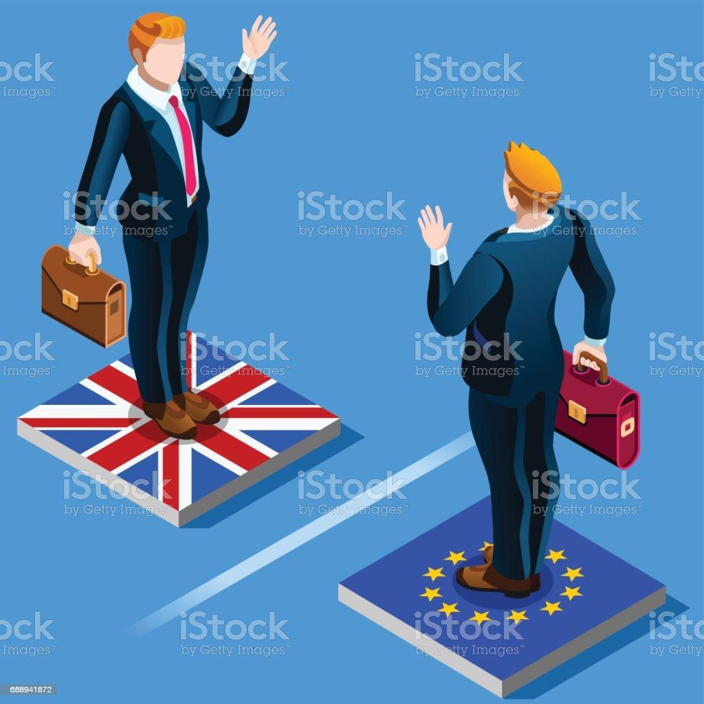 UK United Kingdom Brexit from the EU European Union infographics vector art illustration