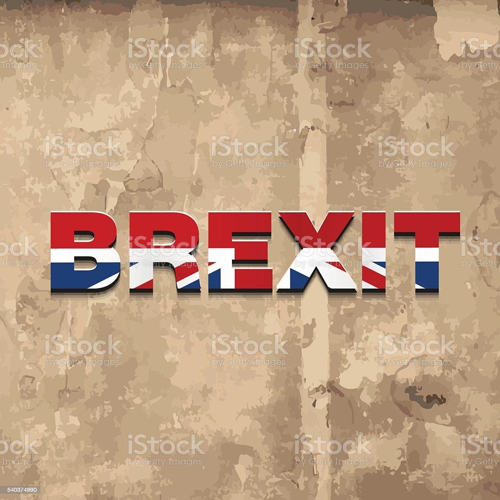 United Kingdom Brexit logo on grunge background vector art illustration