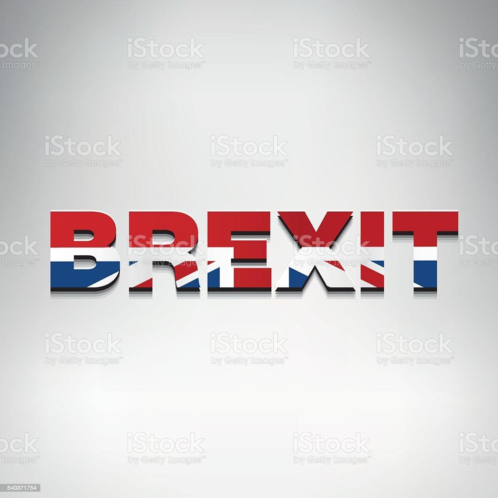United Kingdom Brexit logo vector art illustration