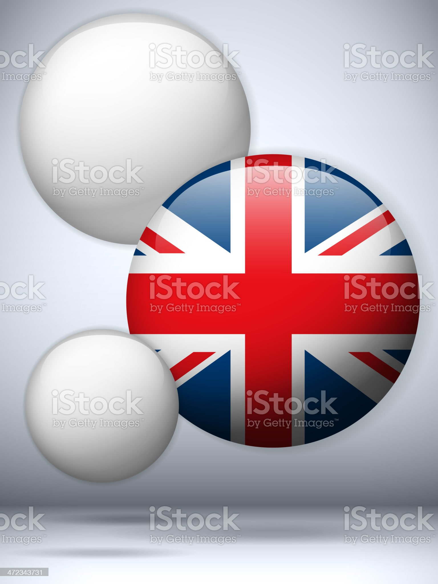 United Kingdom Country Set of Bubbles royalty-free stock vector art