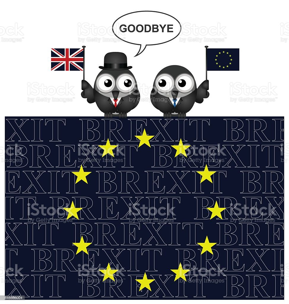 United Kingdom exit from the European Union vector art illustration