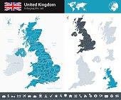 United Kingdom - Infographic map - illustration