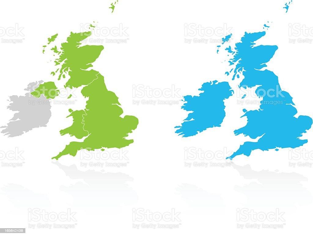 United Kingdom & Ireland vector art illustration