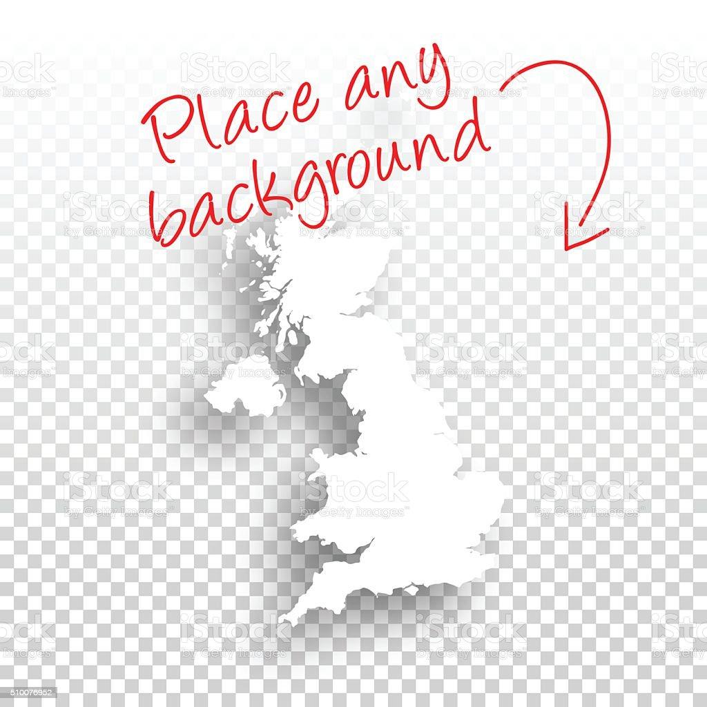 United Kingdom Map for design - Blank Background vector art illustration