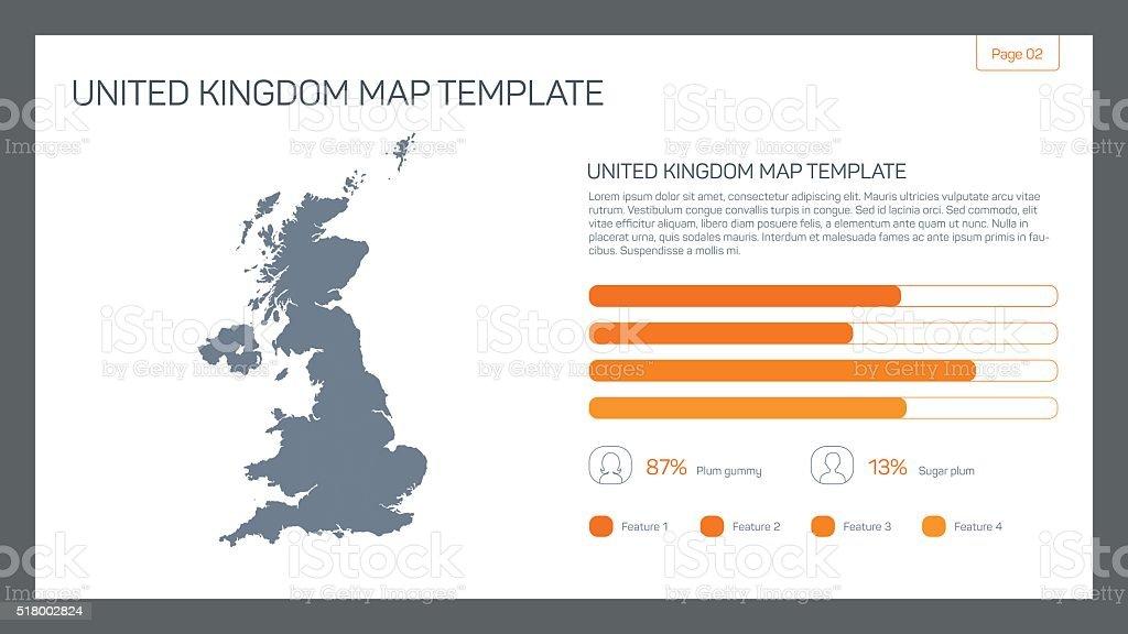 United Kingdom map template vector art illustration