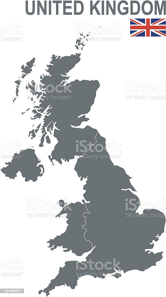 United Kingdom of Great Britain and Northern Ireland vector art illustration