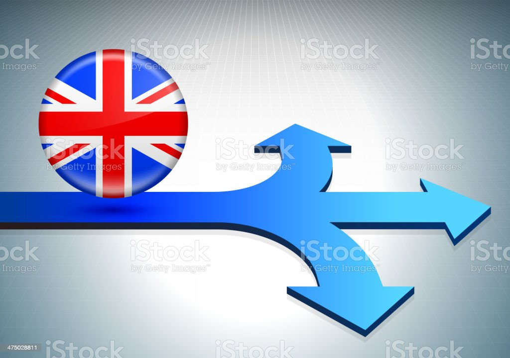 United Kingdom on Path to Success royalty-free stock vector art