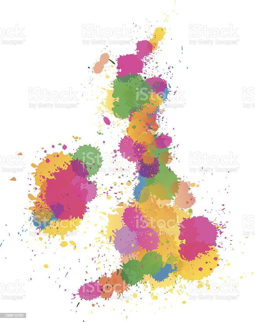 United Kingdom Paint splattered royalty-free stock vector art