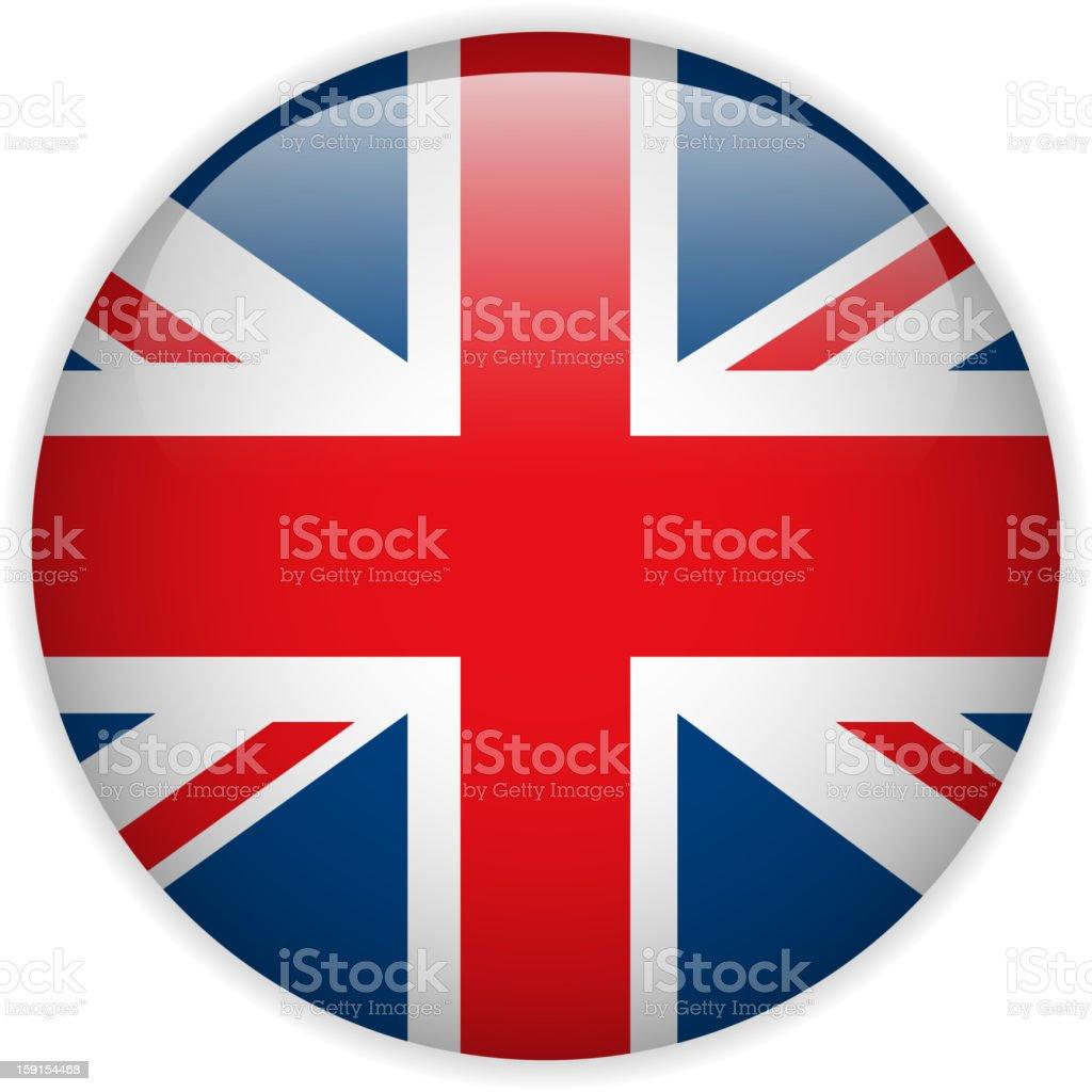 United Kingdom UK England Flag Glossy Button royalty-free stock vector art