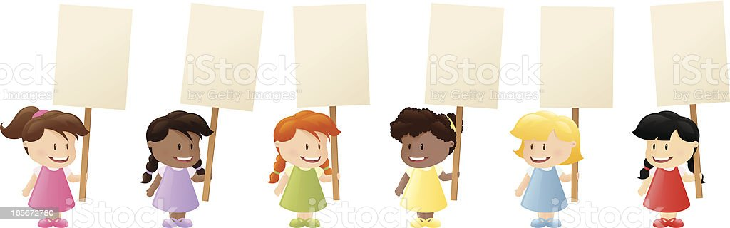 United Placards vector art illustration