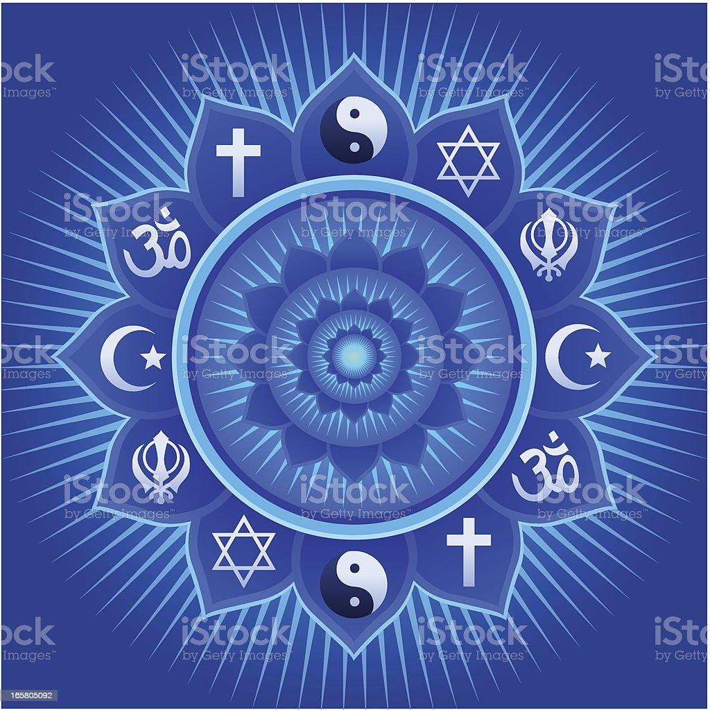 United Religions Mandala royalty-free stock vector art