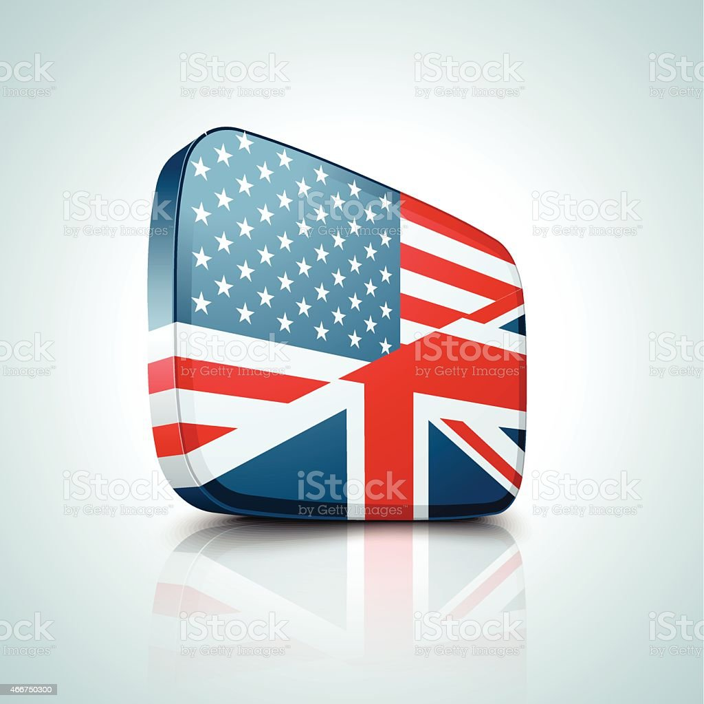 United States and Great Britain vector art illustration
