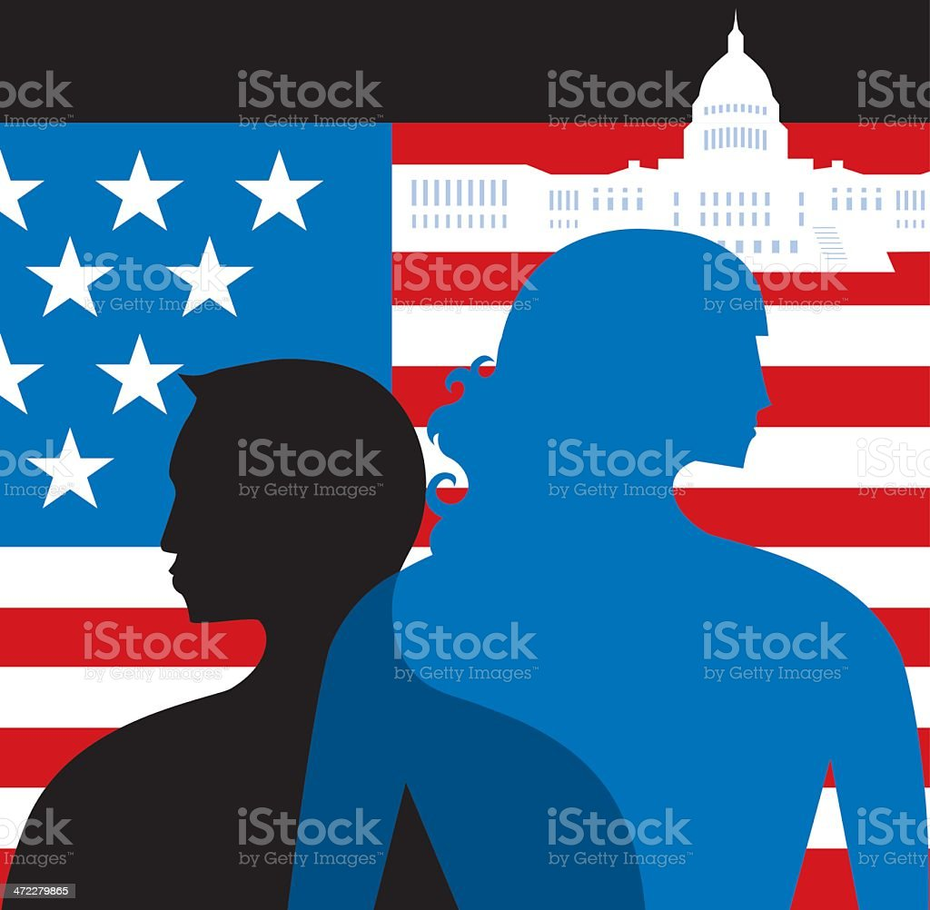 United States and The People vector art illustration
