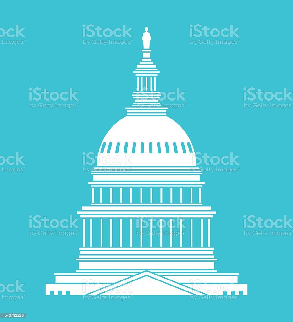 United States Capitol Building vector art illustration