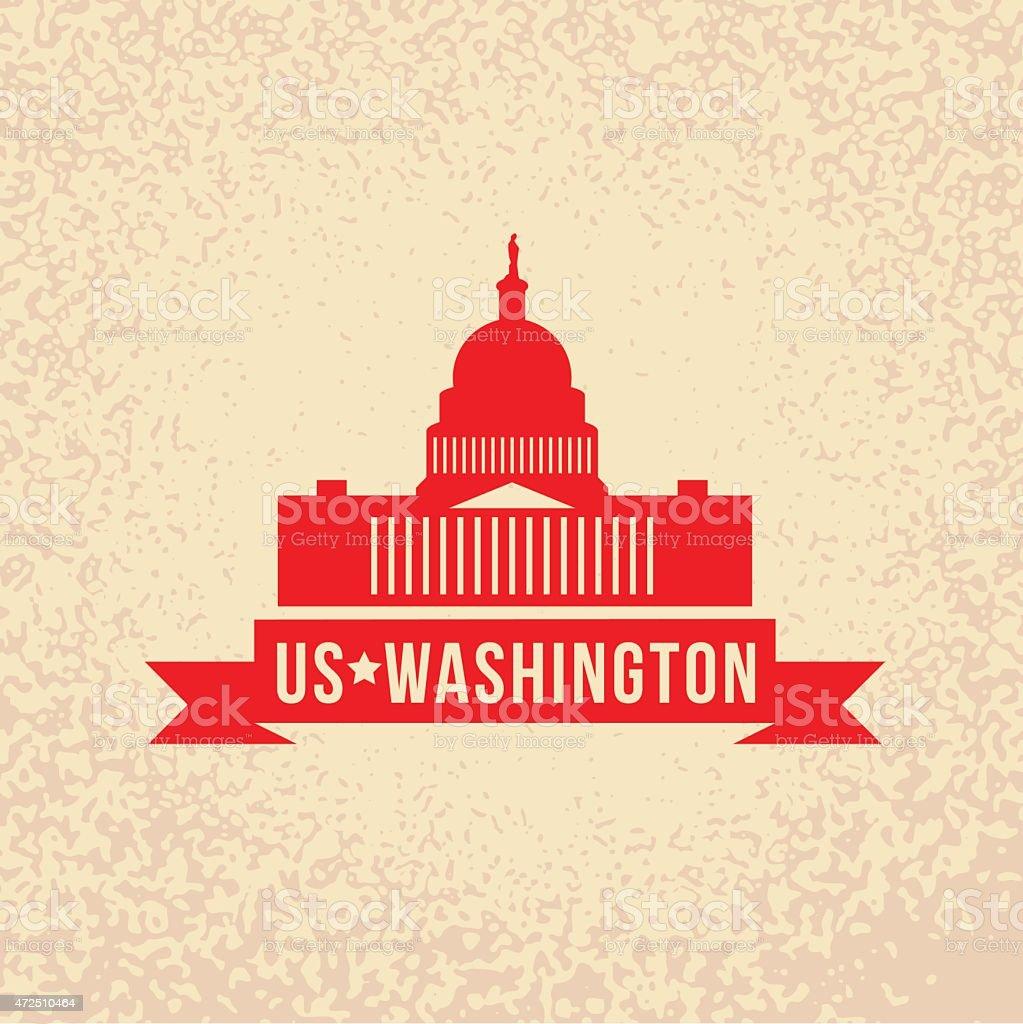 United States Capitol - The symbol of US, Washington DC vector art illustration