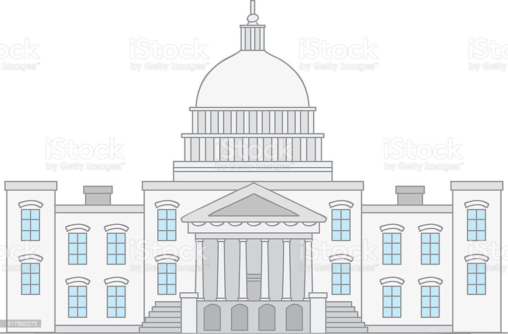 United States Capitol vector art illustration