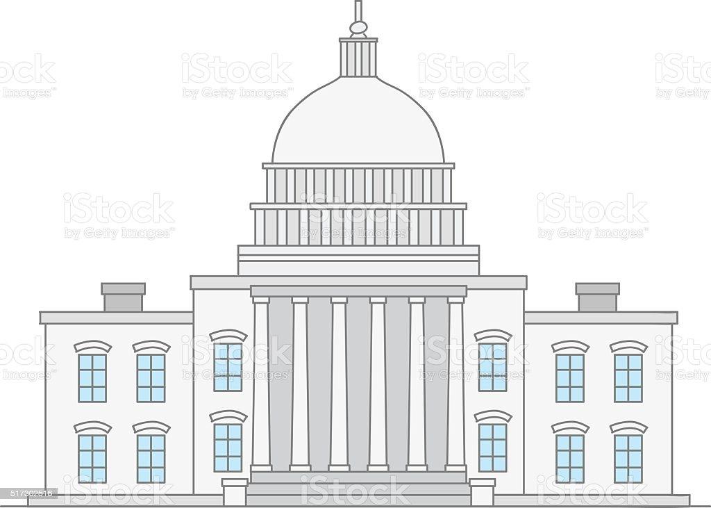 United States Capitol vector art illustration