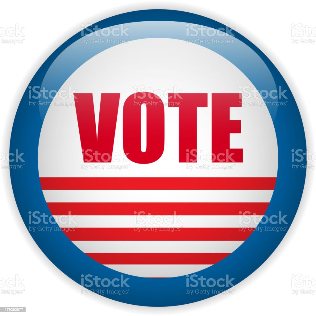 United States Election Vote Button royalty-free stock vector art