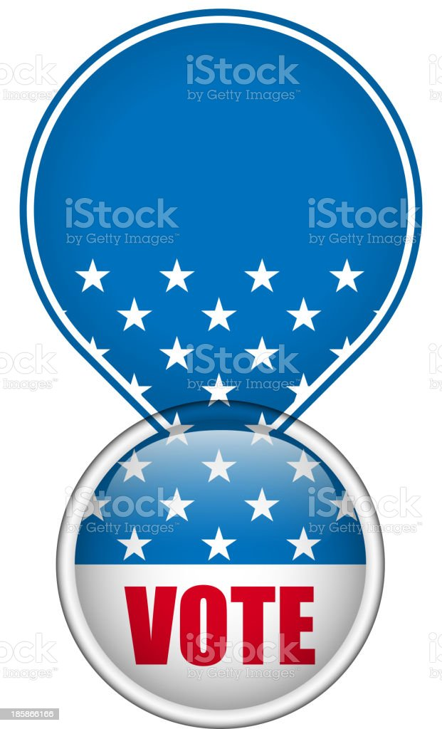 United States Election Vote Button. royalty-free stock vector art
