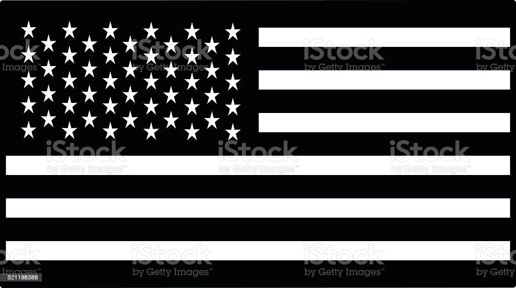 United States Flag Illustration vector art illustration
