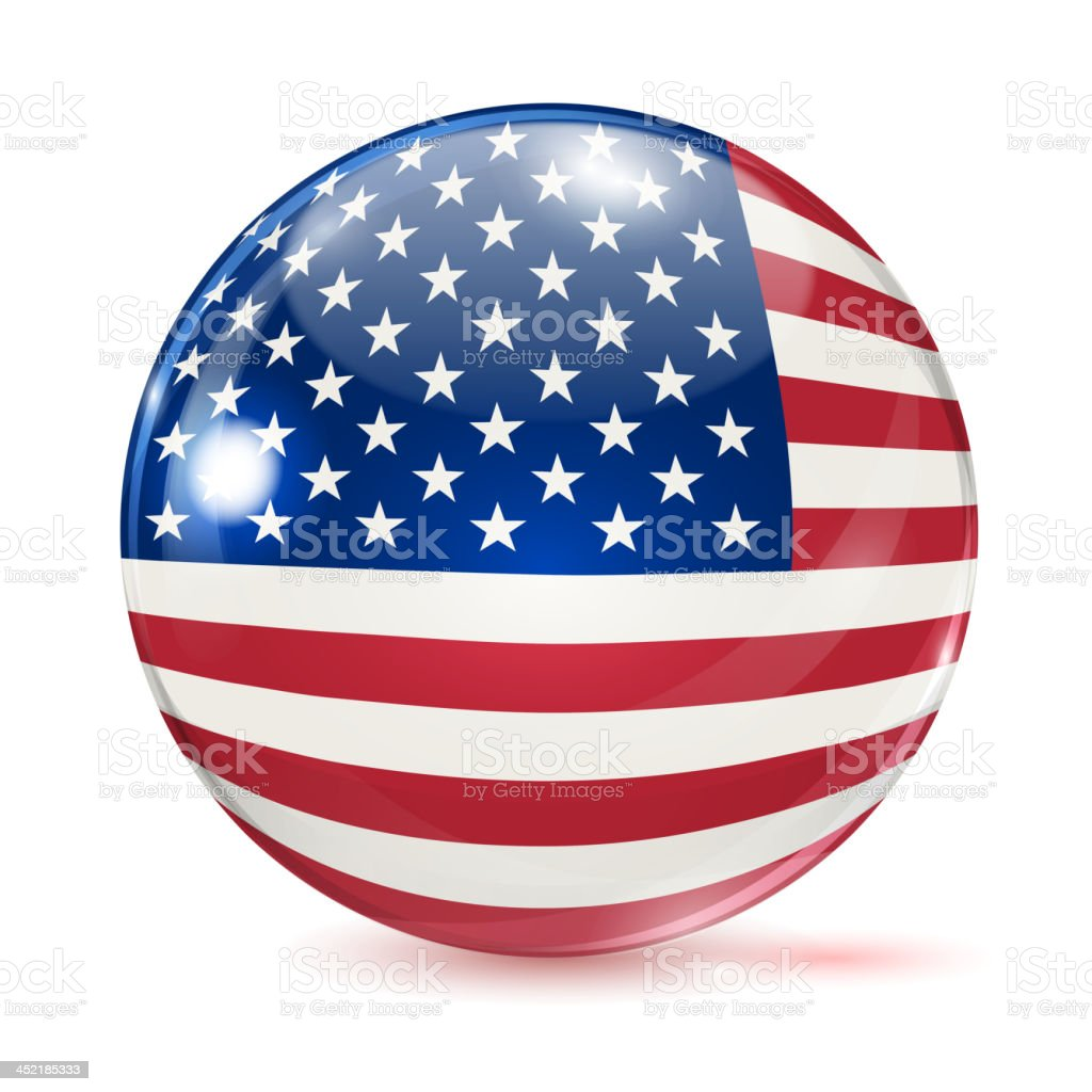 United States flag in the form of ball royalty-free stock vector art