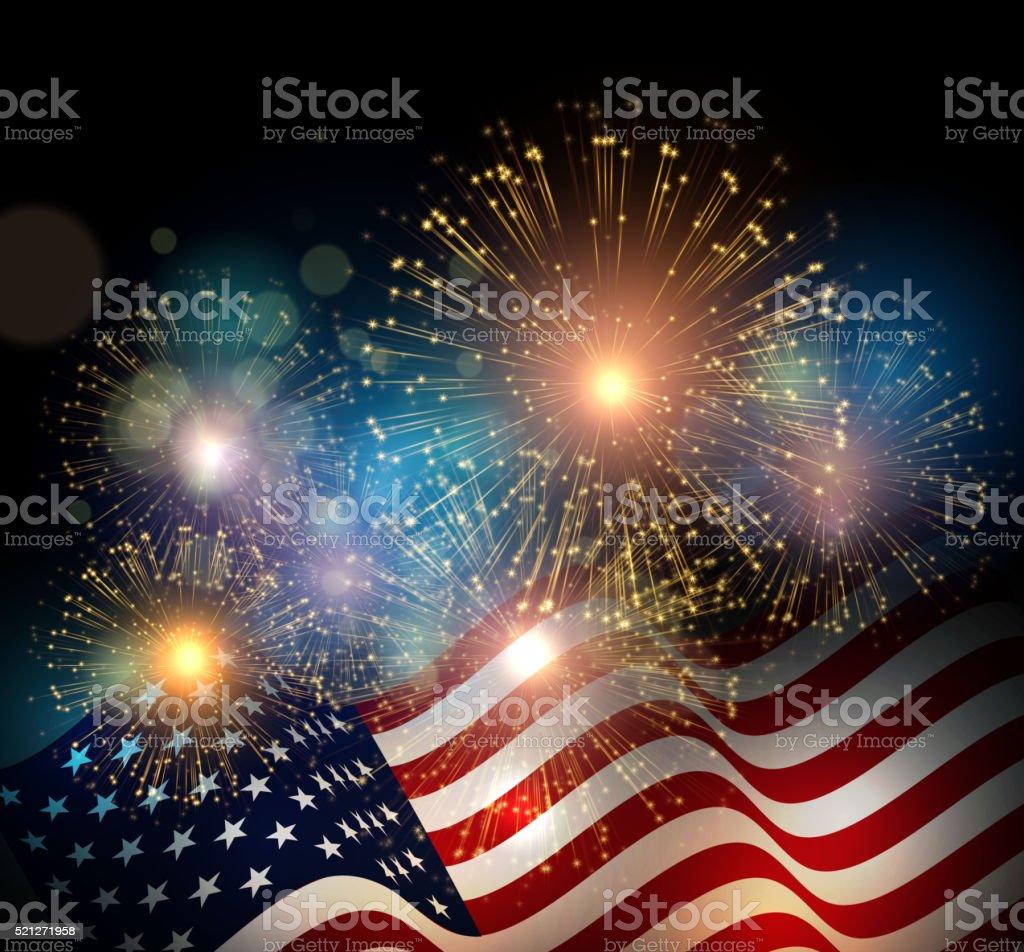 United States flag vector art illustration