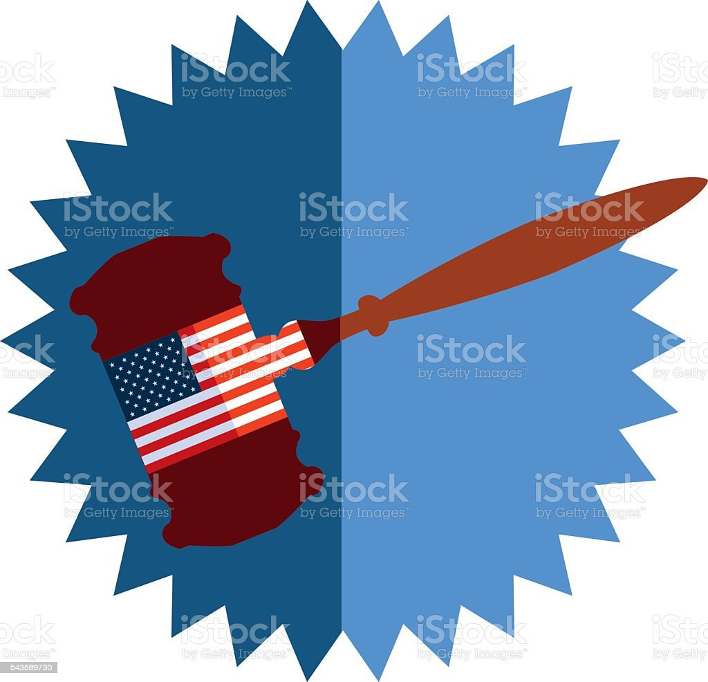 United States Justice vector art illustration
