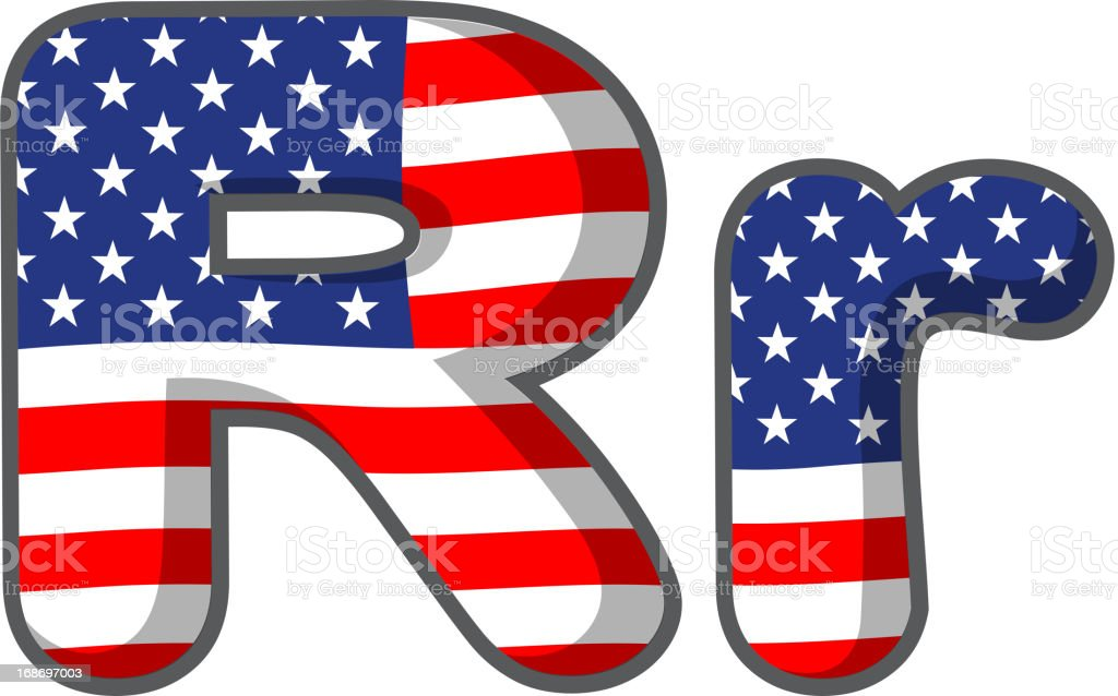 United states letter of the alphabet royalty-free stock vector art