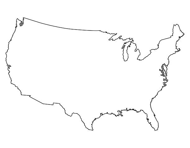 Outline Clip Art Vector Images Illustrations IStock - Clipart us map border security
