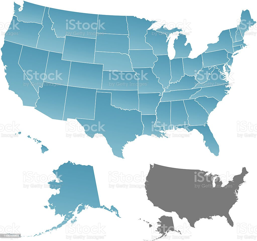 United States Map royalty-free stock vector art