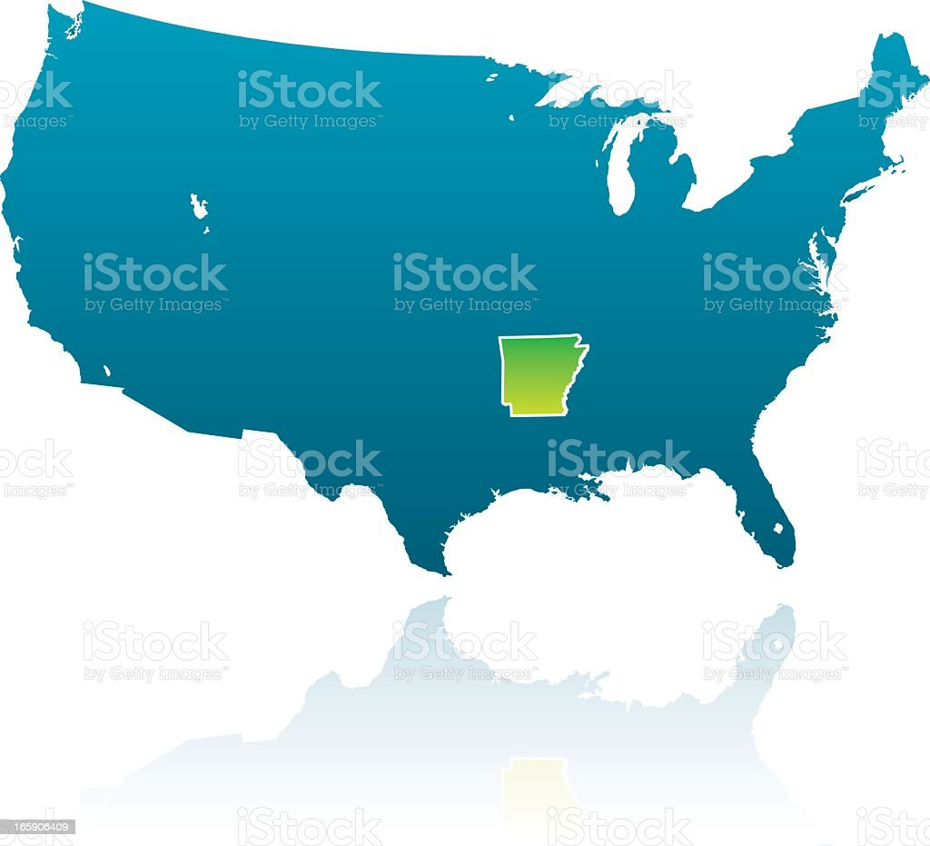 United States Maps Arkansas Stock Vector Art  IStock - United states map arkansas