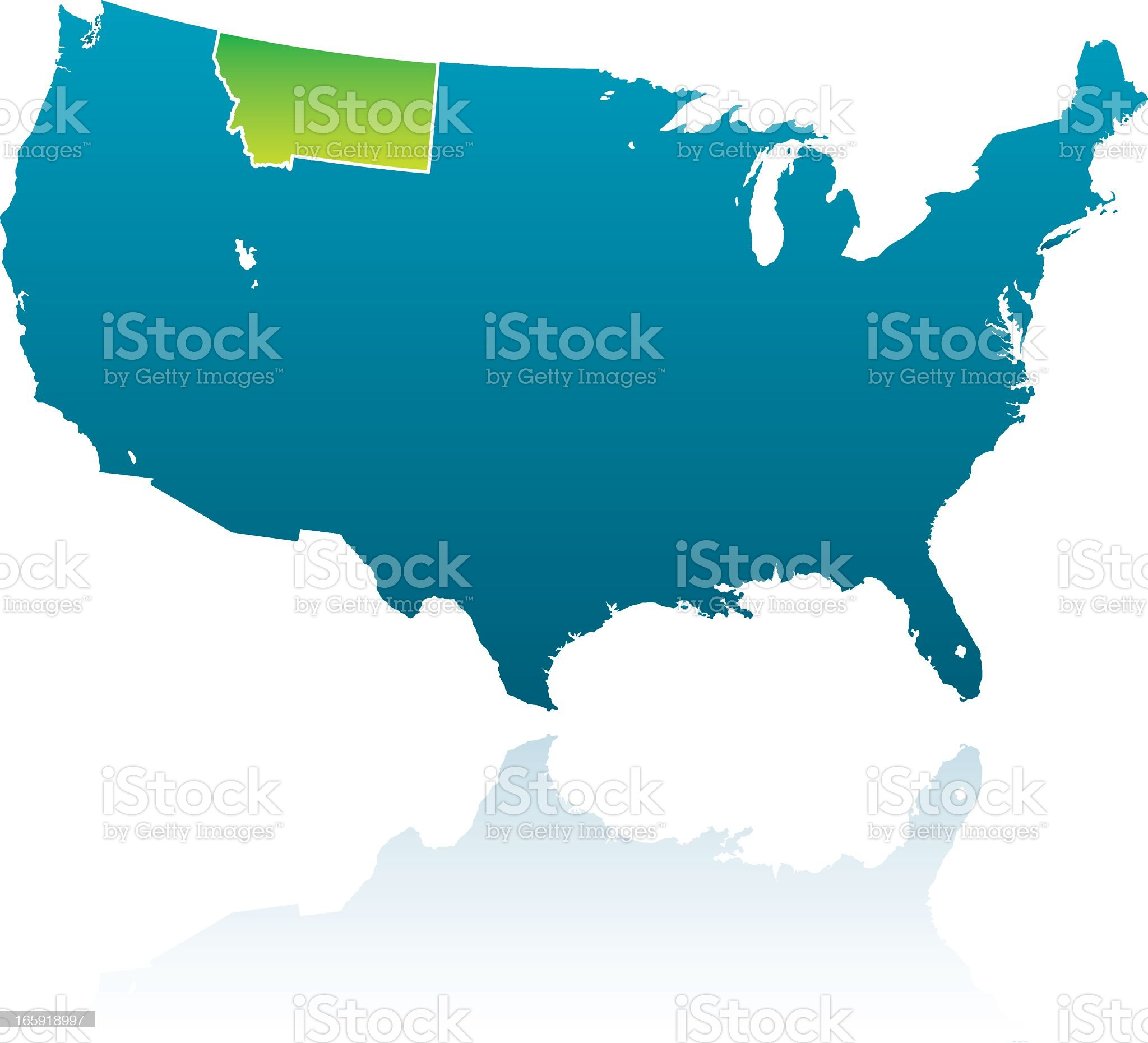 United States Maps: Montana royalty-free stock vector art