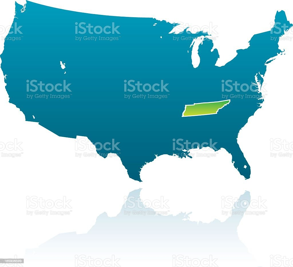 United States Maps: Tennessee royalty-free stock vector art