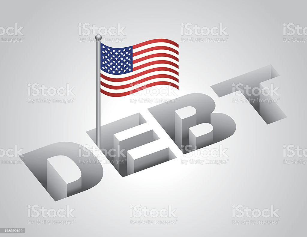 United States National Debt vector art illustration