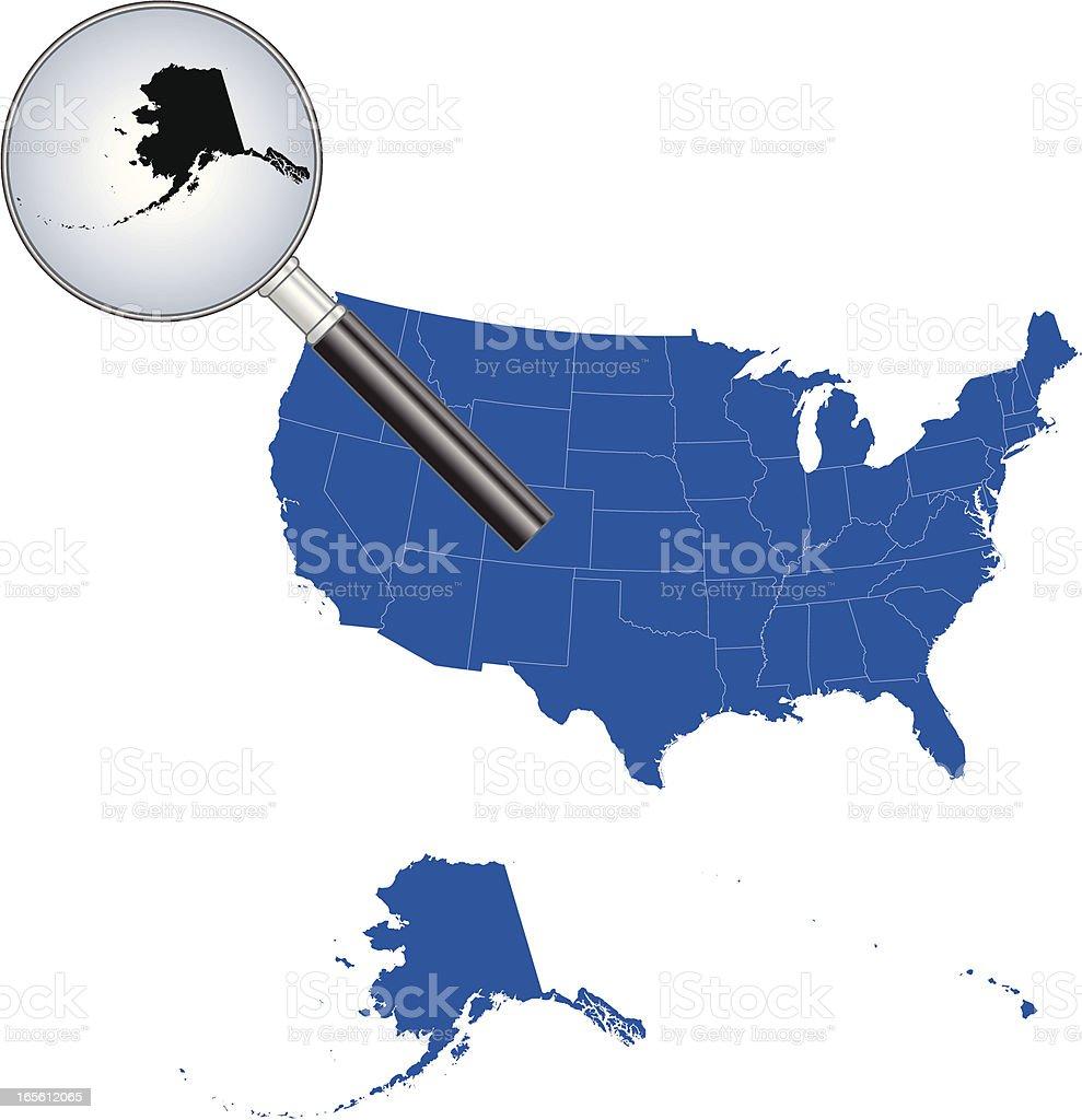 United States of America - Alaska Map royalty-free stock vector art
