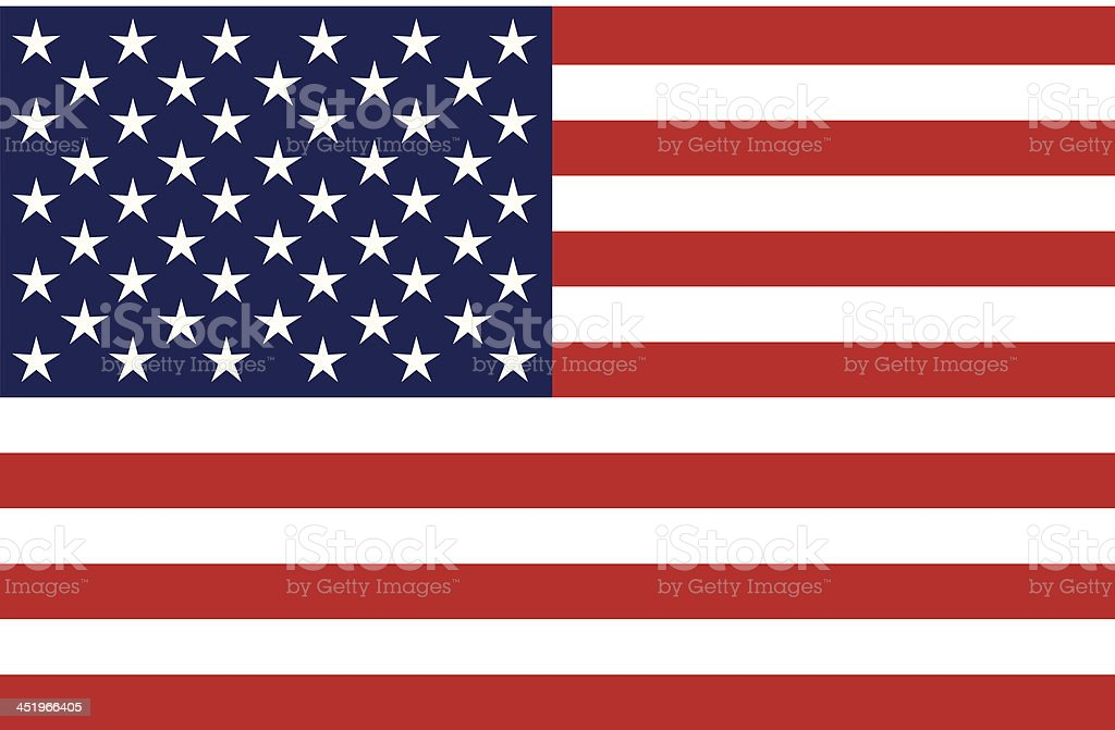 United States of America Flag, Isolated, Blank vector art illustration