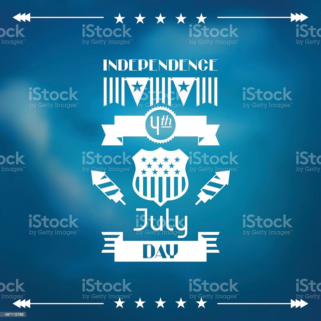United States of America Independence Day greeting card. royalty-free stock vector art