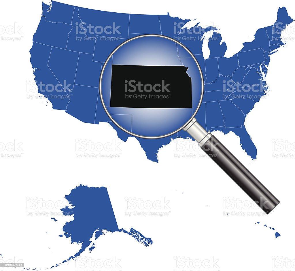 United States of America - Kansas Map royalty-free stock vector art