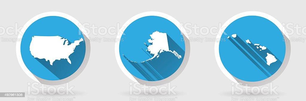 United States of America Map vector art illustration