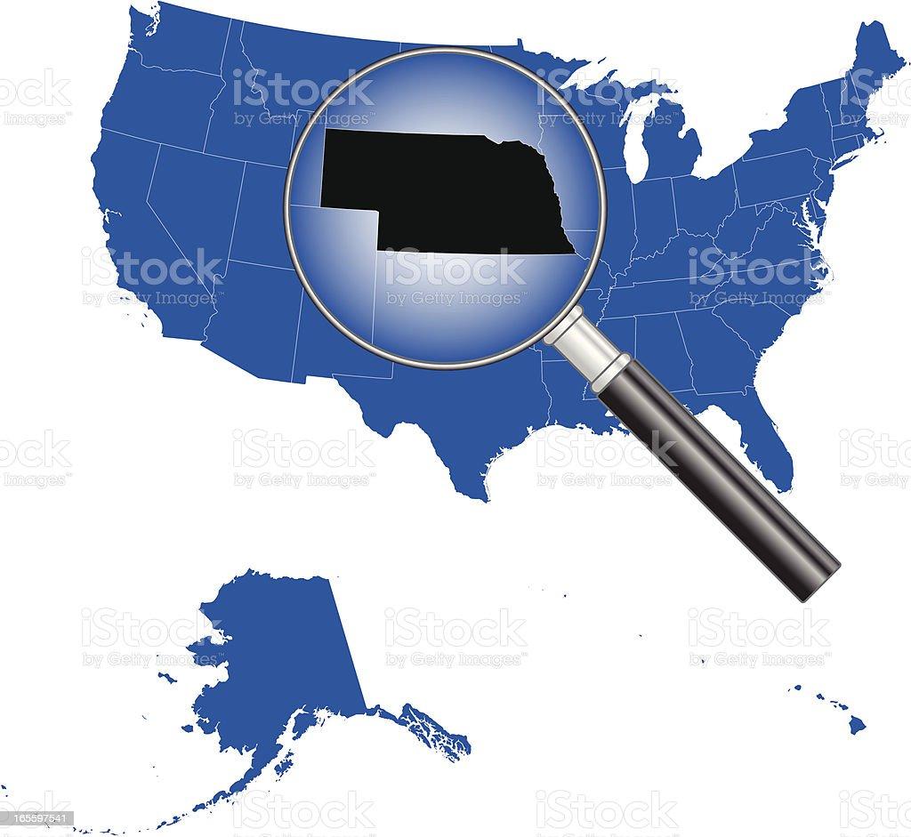 United States of America - Nebraska Map royalty-free stock vector art