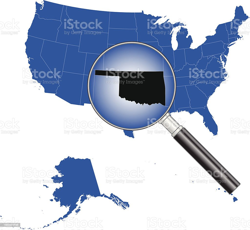 United States of America - Oklahoma Map royalty-free stock vector art