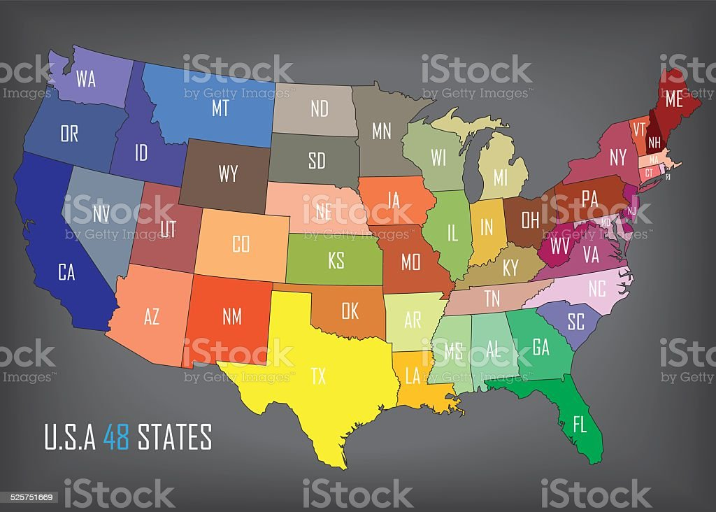 United States of America vector art illustration