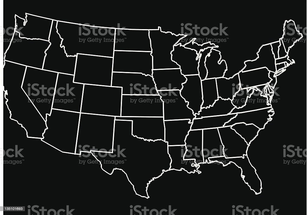 United States Outline royalty-free stock vector art