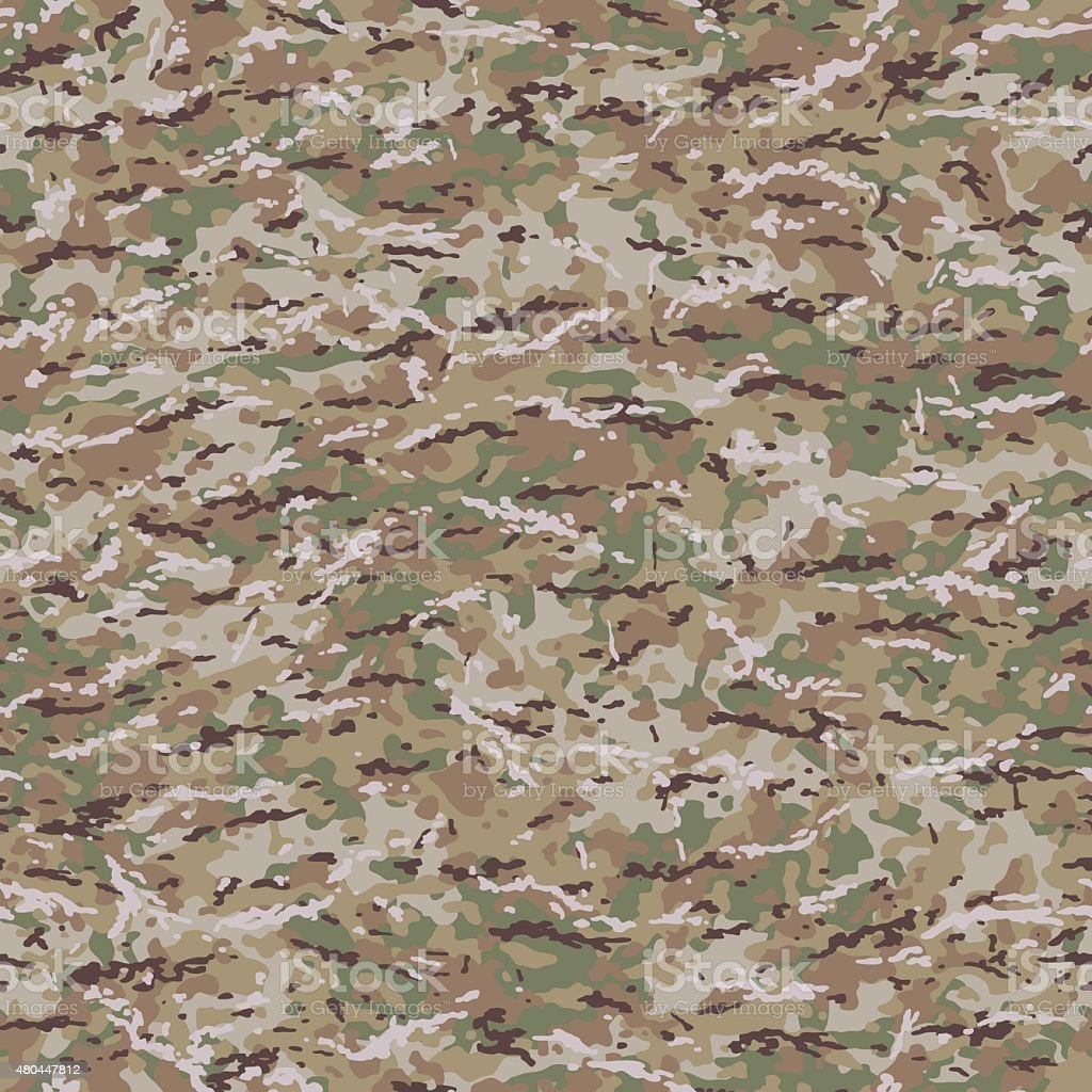 United States MultiCam Style Camouflage Pattern vector art illustration