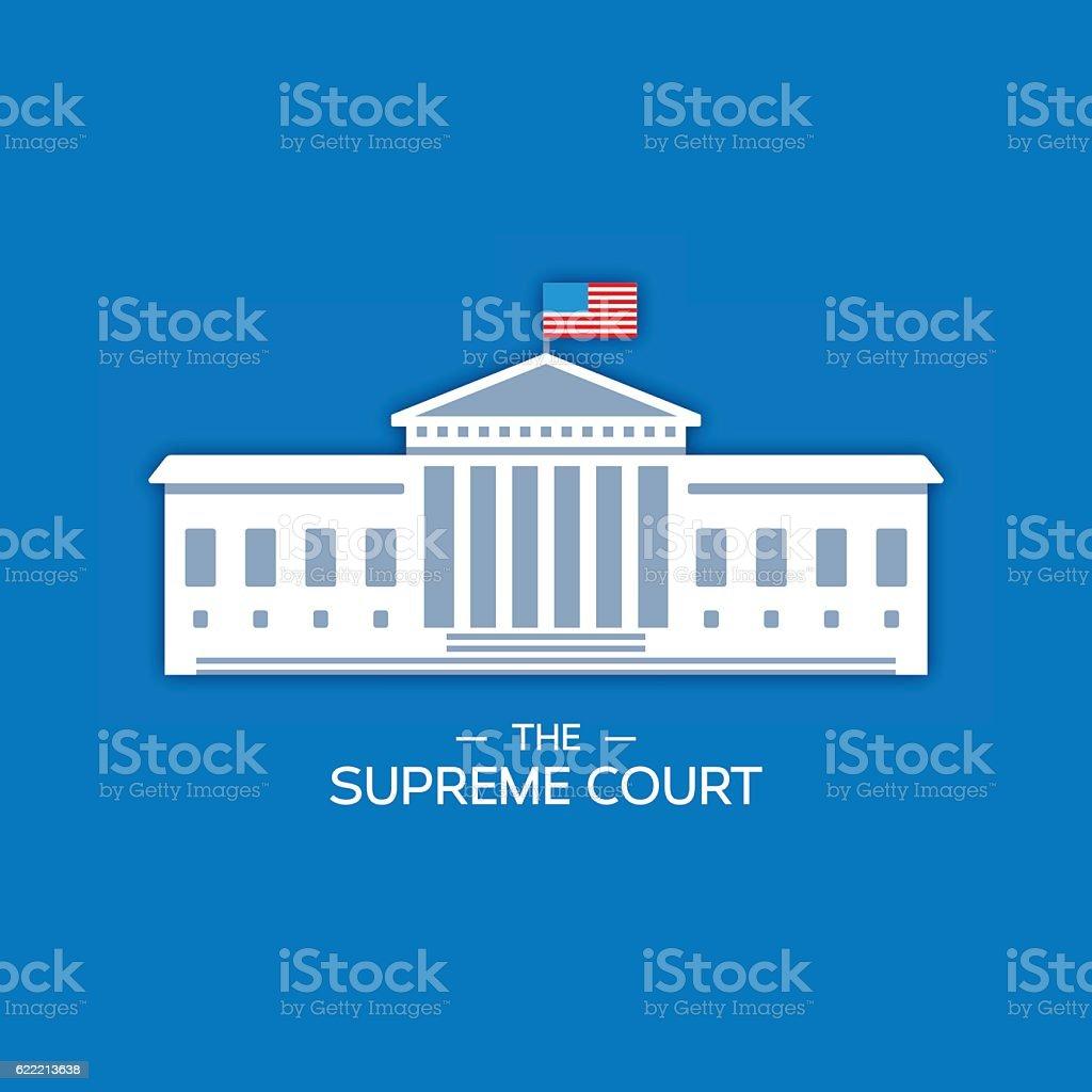 United States Supreme Court vector art illustration
