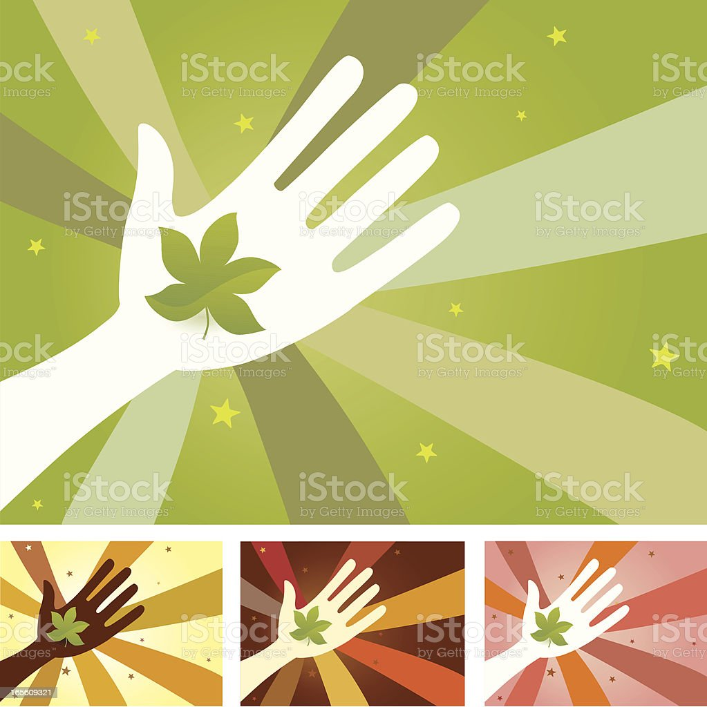 Unity Hands - Nature royalty-free stock vector art