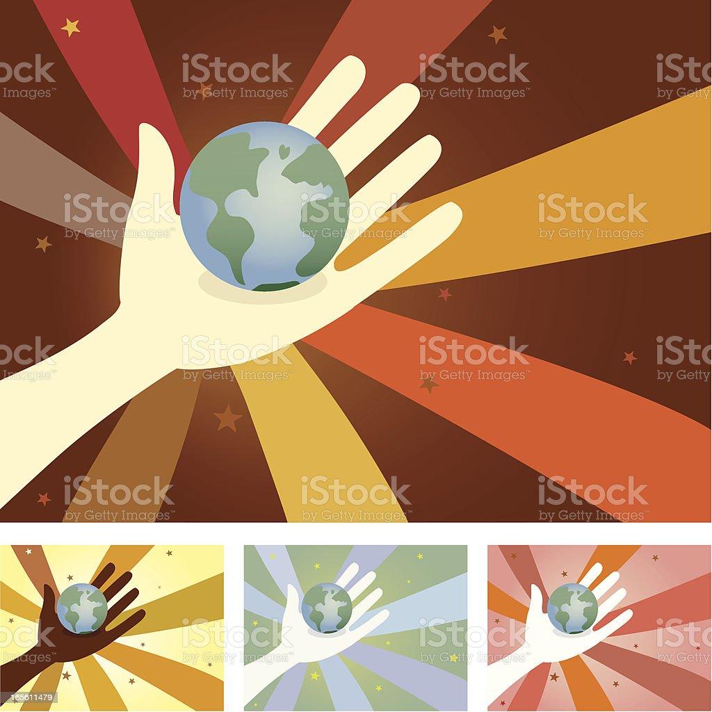 Unity Hands - World royalty-free stock vector art