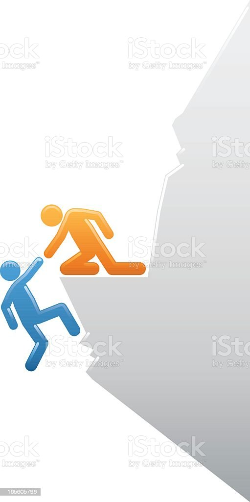 Univeral Men Concepts: Helping Hand royalty-free stock vector art